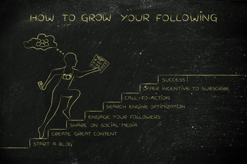 How To Grow Your Following, Man Running On Steps